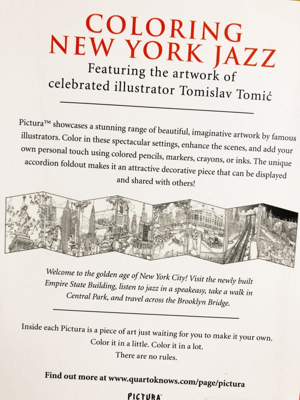 Coloring New York Jazz Flyer designed byJKCC custom printing and design shop in Paola Kansas