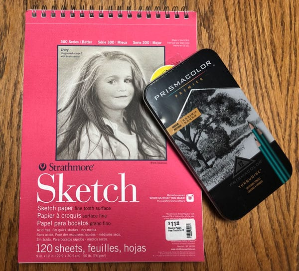 Sketch Book Workbook with spiral binding designed and printed at JKCC custom printing and design shop in Paola Kansas